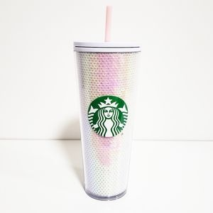 STARBUCKS Christmas 2020 White Sequin Tumbler